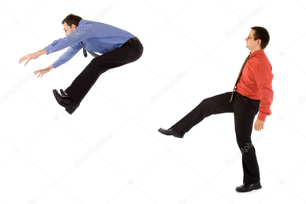 Boss is kicking out an employee — Foto Stock #4017981