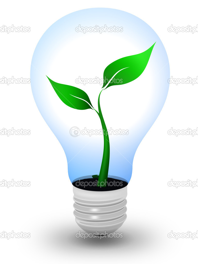 Green Light Bulb Stock Photo Icefront 4018826