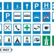Traffic signs: Information — Vector de stock #4016829
