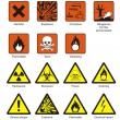 Science Laboratory Safety Signs — Imagen vectorial