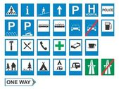 Traffic signs: Information — Stockvector