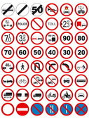 Traffic signs: Prohibit and restrict — Stock Vector