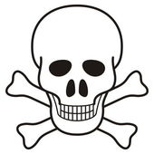 Skull illustration — Stock Vector