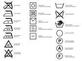 Simboli di stoffa — Vettoriale Stock