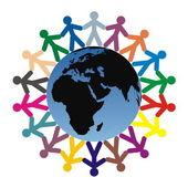 τα παιδιά σε όλο τον κόσμο — Διανυσματικό Αρχείο