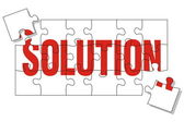 Solution puzzle — Stock Vector
