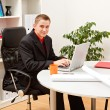 Stock Photo: Young business min office