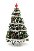 Colorful decorated artificial Christmas tree — Stockfoto