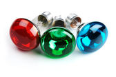 RGB bulbs — Stock Photo