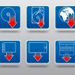 Download icon set - Stock Vector