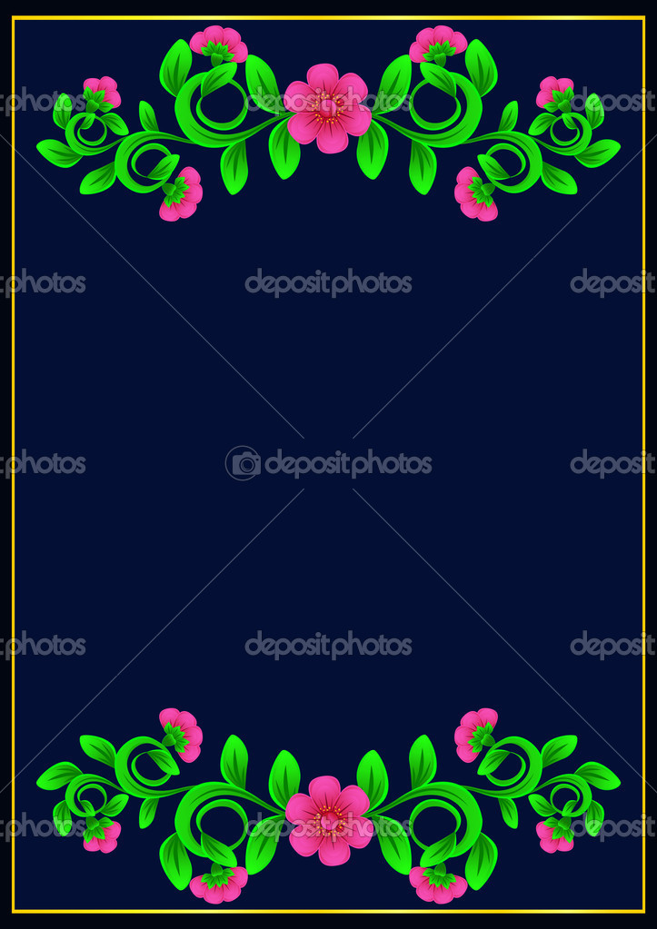Pink flowers on a dark blue background — Stock Vector #4019440