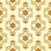 シームレスな花のパターン — ストックベクタ
