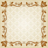 Vector vintage floral background with decorative flowers for design — Stock Vector