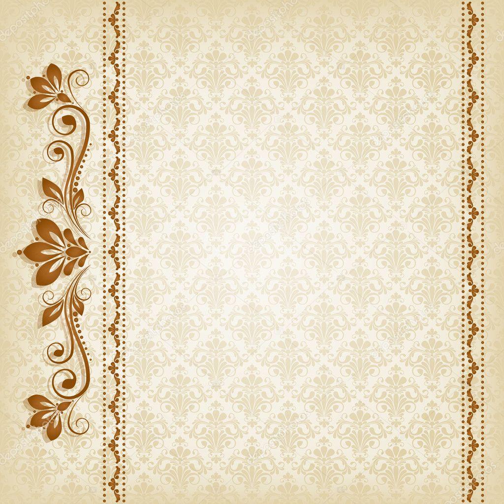 Vector vintage floral background with decorative flowers for Vintage design tumblr