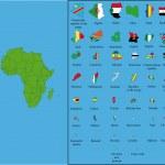 l'Afrique avec tous les drapeaux — Vecteur