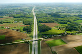 Aerial highway — Stock Photo