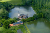 Aerial castle horst — Stock Photo