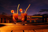 Cocktail by sunset — Stock Photo