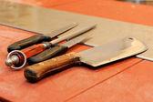 Butcher knife — Stock Photo
