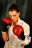 Chica de boxeo — Foto de Stock