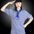 Chinese girl sailor - Stock Photo