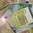 European currency by close up — Stock Photo