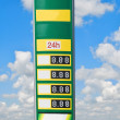 Gasoline prices — Stock Photo