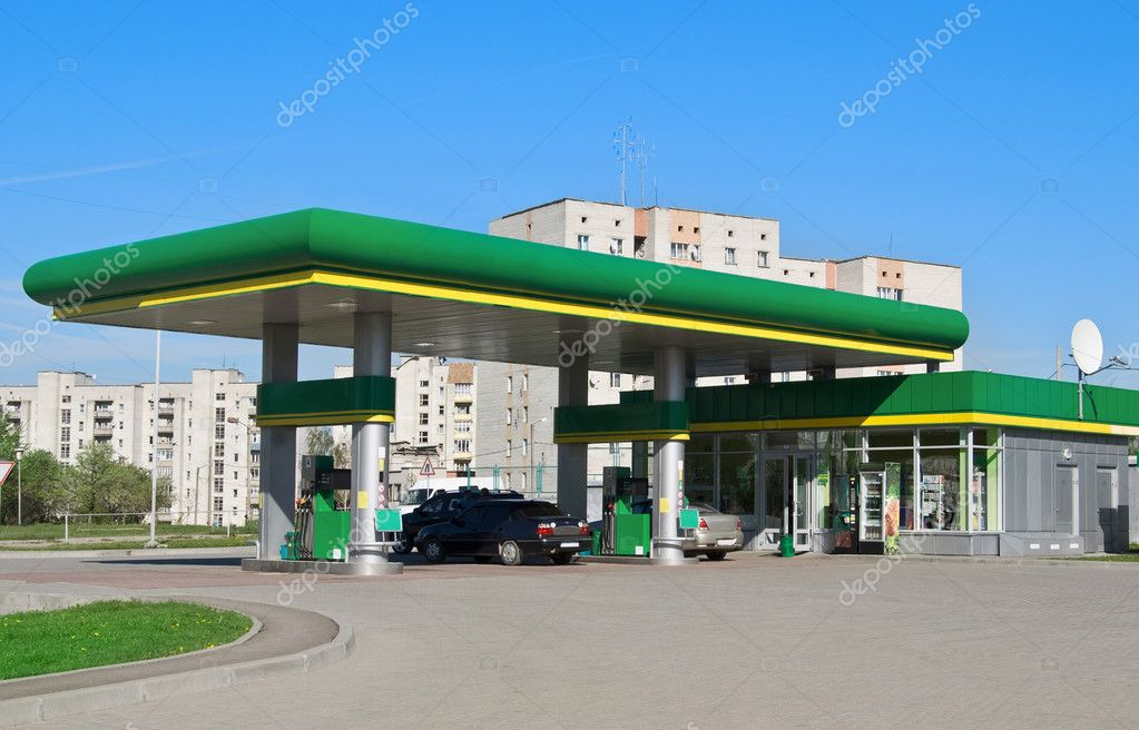 Gas station on a background sky — Stock Photo #4340682