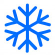 Blue snowflake — Stock Photo