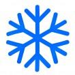 Blue snowflake — Stock Photo #4975795