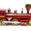 Model old locomotive — Stock Photo