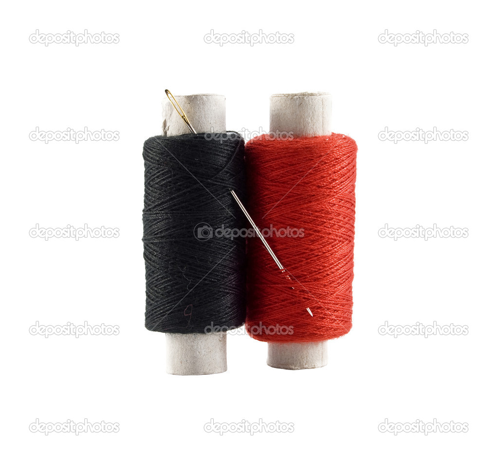 Threads are isolated on a white background — Stock Photo #4972399