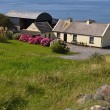 Cute irish cottage by the ocean for rental - Foto de Stock