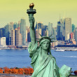 Stock Photo: New york cityscape, tourism concept photograph