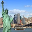 New york cityscape, tourism concept photograph — Stockfoto