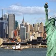 Foto Stock: New york cityscape, tourism concept photograph