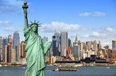 Paisaje urbano de nueva york, fotografía del concepto de turismo — Foto de Stock