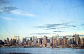 Ciel cityscape de photo new york, é.-u — Photo