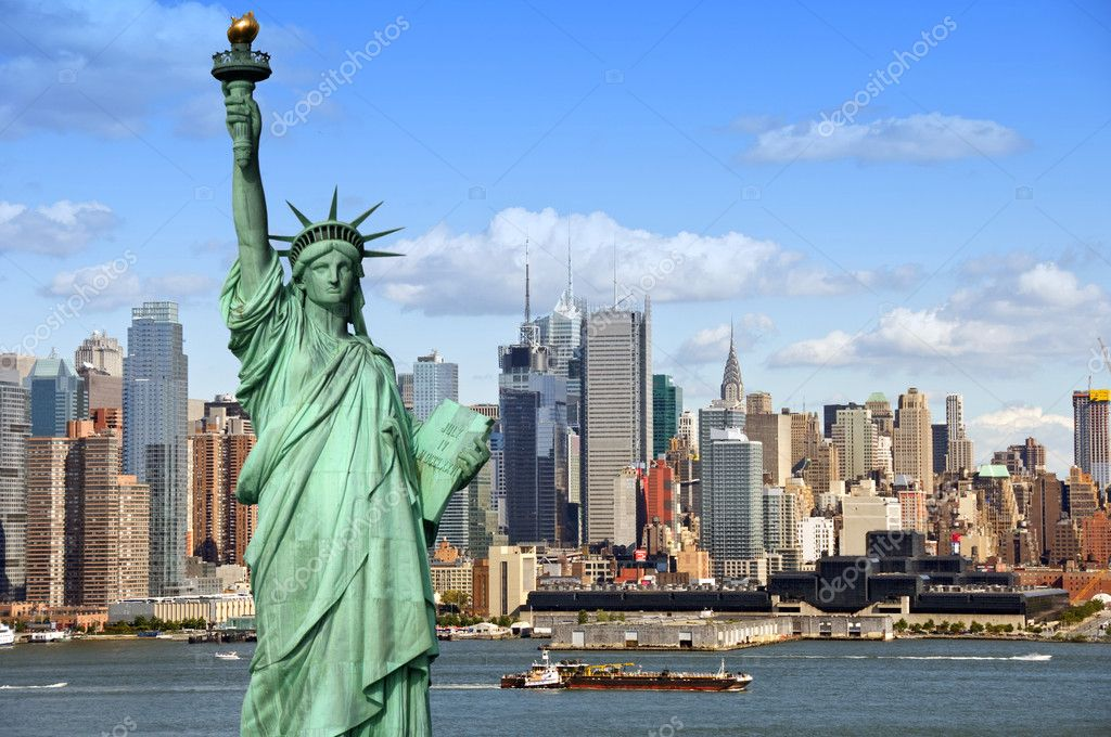 New york cityscape, tourism concept photograph  Foto de Stock   #3958211