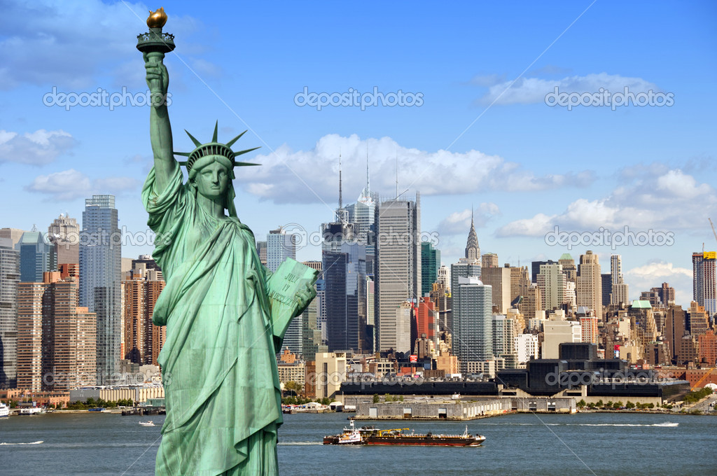 New york cityscape, tourism concept photograph — Stockfoto #3958211