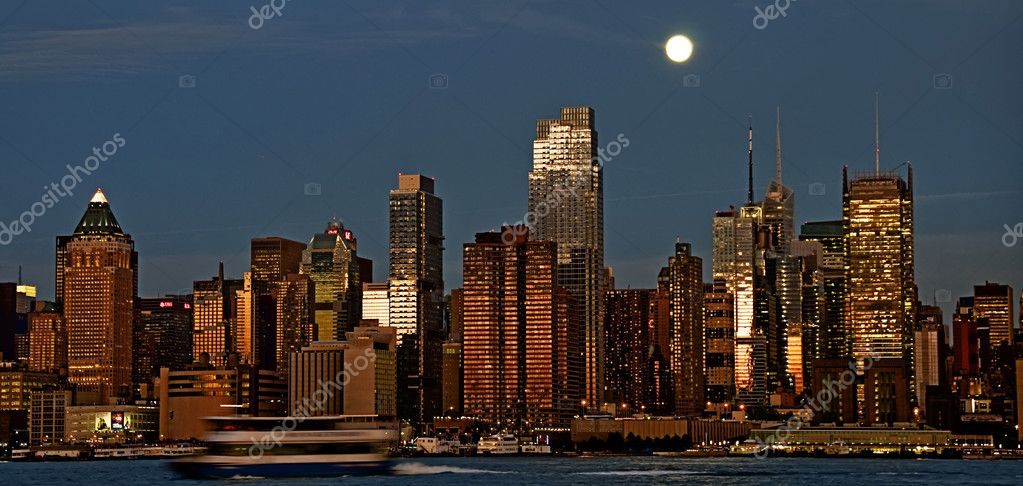Photo new york cityscape skyline, usa — Stock Photo #3958492