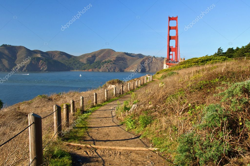 Photo of the golden gate bridge in san francisco, usa  Stock Photo #3959745