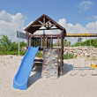 Capture at kids play area by beach — Stock Photo