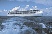 Capture of a luxury cruise ship, two tone. — Stock Photo