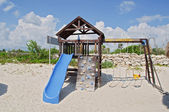 Capture at kids play area by beach — Photo