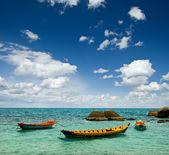 色彩缤纷的小船 — 图库照片