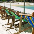 Beach chairs — Foto de Stock