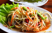 Thai papaya salad — Stock Photo