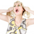 Screaming woman — Stock Photo