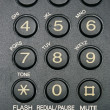 Fax machine keypad close-up — Stock Photo